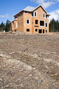 New House Under Construction Royalty Free Stock Image - 9109726