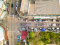 Aerial View Of Walking Street Market Royalty Free Stock Image - 91027716