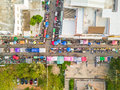 Aerial View Of Walking Street Market Royalty Free Stock Images - 91028149