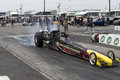 Dragster Burnout At The Starting Line Stock Image - 91031751