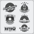 Retro Music Studio Emblems, Labels, Badges And Design Elements. Royalty Free Stock Photo - 91032535