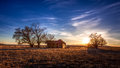 Old Farmhouse Under Deep Blue Sky Stock Image - 91033161