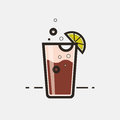 Cocktail Long Island Iced Tea Royalty Free Stock Photo - 91045695
