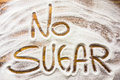 Text With No Sugar Stock Photography - 91052612