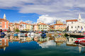 The Scenic Harbour With Boats In Izola Stock Photo - 91064530