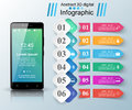 3D Infographic. Smartphone Icon. Royalty Free Stock Images - 91093239