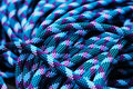 Blue Climbing Rope Royalty Free Stock Photography - 9111337