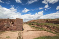 Tiwanaku Heritage In Bolivia Royalty Free Stock Photos - 91102128