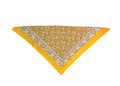 Yellow Kerchief-bandana With A Pattern, Isolated Royalty Free Stock Photography - 91108977