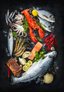 Fresh Fish And Seafood Royalty Free Stock Photos - 91110328