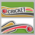 Vector Horizontal Banners For Cricket Game Royalty Free Stock Photography - 91120157