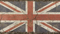 Old Grunge Vintage Faded UK Great Britain Flag Royalty Free Stock Photo - 91128265