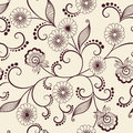 Vector Flower Seamless Pattern Element. Elegant Texture For Backgrounds. Classical Luxury Old Fashioned Floral Ornament Stock Images - 91130854