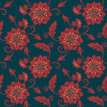 Vector Flower Seamless Pattern Background. Elegant Texture For Backgrounds. Classical Luxury Old Fashioned Floral Stock Photography - 91130992