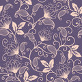 Vector Flower Seamless Pattern Element. Elegant Texture For Backgrounds. Classical Luxury Old Fashioned Floral Ornament Stock Photo - 91131240