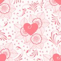 Vector Flower Seamless Pattern Element. Elegant Texture For Backgrounds. Classical Luxury Old Fashioned Floral Ornament Royalty Free Stock Image - 91132106