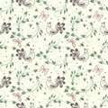 Vector Flower Seamless Pattern Background. Elegant Texture For Backgrounds. Stock Photography - 91133052