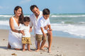 Mother Father Parents Boy Children Family Beach Fun Royalty Free Stock Photography - 91154057