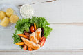 Health Food, Chicken Salad. Top View. Royalty Free Stock Photo - 91154295