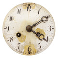 Ancient Weathered Clock Face Isolated On White Stock Photography - 91175082