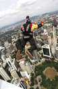 Skydiver Jumping From KL Tower Stock Image - 9125581