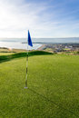 Golf Course Above Beach With Seaside View Stock Image - 91206551