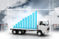 Success Full Graph On A Truck Royalty Free Stock Photography - 91239127