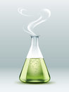 Steaming Laboratory Flask Stock Photo - 91270050