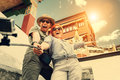 Happy Tourist Couple Take A Selfie Photo On Asian Sight Backgrou Stock Image - 91278661