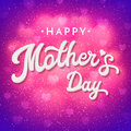 Mothers Day Card With Blurred Hearts And Confetti. Royalty Free Stock Photo - 91279625