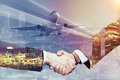 Handshake In Business Trip Royalty Free Stock Photography - 91297507