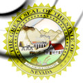 State Seal Of Nevada, USA. Royalty Free Stock Images - 91298219