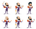 Actor Theater Stage Man Characters Medieval Different Actions Icons Set Cartoon Design Template Vector Illustration Royalty Free Stock Photos - 91309118