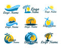 Set Of Travel Agency Logos. A Symbol Of Vacation, Travel And Recreation In Warm Countries. Logo With Palm Trees, Island Stock Photography - 91317922