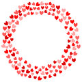 Frame Hearts Valentines Card Royalty Free Stock Photo - 91322825