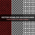 Black White Red Seamless Pattern Background. Fashion Fabric For Elegant Design. Abstract Geometric Frames. Stylish Decorative Labe Royalty Free Stock Images - 91333229