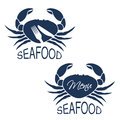 Crab Silhouette With Symbol Of Menu And Symbol Of Knife, Fork. Seafood Symbols  On White Background For Produkt Design Or Menu Res Stock Image - 91333421