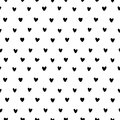 Hand Drawn Small Hearts Seamless Pattern Vector Stock Photography - 91335232