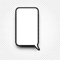 Abstract Black And White Color Comic Speech Balloon Icon On Checkered Background, Dialogue Box Sign, Dialog Stock Photography - 91335662