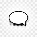 Isolated Abstract Black And White Color Comic Speech Balloon Icon On Checkered Background, Dialogue Box Sign, Dialog Royalty Free Stock Image - 91335746