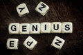 Word Genius On Toy Cubes Royalty Free Stock Photos - 91351258