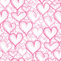 Vector Pink Hearts Seamless Repeat Pattern Background Design. Great For Romantic Valentine Day Cards, Wrapping Paper Royalty Free Stock Photos - 91359378
