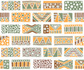 Seamless Vector Pattern. Geometrical Background With Hand Drawn Decorative Tribal Elements In Vintage Brown Colors. Print With Eth Stock Photos - 91369333