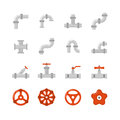 Pipe Connector, Water Pipe Fitting Flat Vector Icons For Plumbing And Piping Work Royalty Free Stock Photography - 91370917
