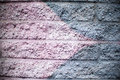 Pink And Silver Gray Brick Wall Background Stock Images - 91372274