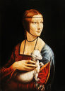 My Own Reproduction Of Painting Lady With An Ermine By Leonardo Da Vinci. Royalty Free Stock Photos - 91373988