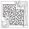 Labyrinth, Maze For Kids. Entry And Exit. Children Puzzle Game - Coloring Book Stock Photography - 91382282