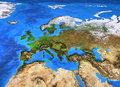 High Resolution World Map Focused On Europe Royalty Free Stock Photo - 91382625