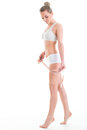 Young Athletic Woman Measuring Waist Measuring Tape, Isolated Ov Royalty Free Stock Images - 91395319