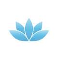 Blue Lotus Symbol. Spa And Wellness Theme Design Element. Vector Illustration Royalty Free Stock Photography - 91436297